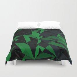 3D Futuristic Geometric Background (Green) Duvet Cover