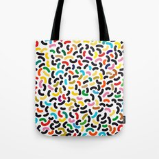 colored worms Tote Bag