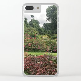 Stormy Garden Clear iPhone Case
