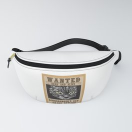 Wanted Dead And Alive Schrodinger's Cat Quantum Mechanic Gift Fanny Pack