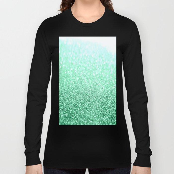 b65eb14b1b22 seafoam green glitter Long Sleeve T-shirt by vintageappeal623 | Society6