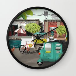 Barranquilla Streets of Colombia Wall Clock