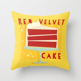 All American Classic Red Velvet Cake Throw Pillow