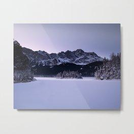 Frozen Lake at Sunrise Metal Print