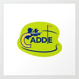 Caddie and Golfer Golf Course Icon Art Print