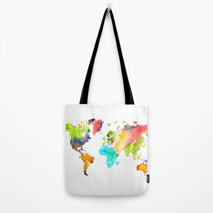 Watercolor World Tote Bag