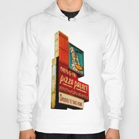 pizza Hoodies featuring Pizza by Hazel Bellhop