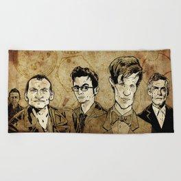 Doctor Who - Nine, Ten, Eleven, Twelve, and Thirteen Beach Towel