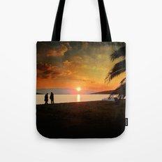 Sunset over Mytilene Tote Bag