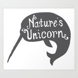 Narwhal Nature's Unicorn Art Print