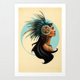 Tribal Princess Pocahontas Art Print