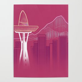 Seattle Sombre Poster