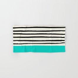 Aqua & Stripes Hand & Bath Towel