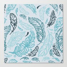 Pattern with colored feathers Canvas Print