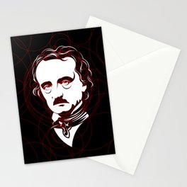 Edgar Allan Poe Circles Portrait Stationery Cards