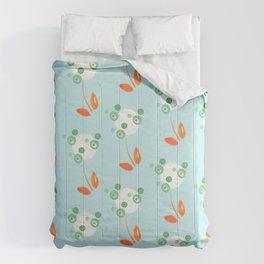 Dottie Flower Pattern-Blue Comforters