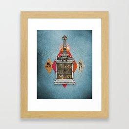 Squid Ascendant Upon the Cabinet of Thackery v.2 Framed Art Print