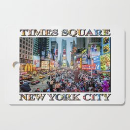 Times Square Tourists (with type) Cutting Board