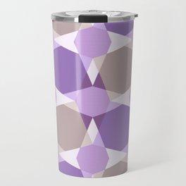 Kaleidoscope  Purple Brown Travel Mug