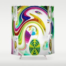 Abstract Perfection 25 Shower Curtain