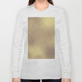 Simply Metallic in Antique Gold Long Sleeve T-shirt