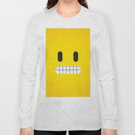 Grin emoji face Long Sleeve T-shirt