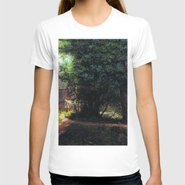 Landscape With Trees Houses And River 1878 By Lev Lagorio | Reproduction | Russian Romanticism Paint T-shirt