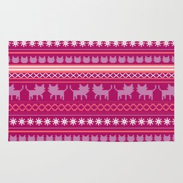 Ugly Christmas Cat Sweater Rug