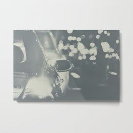 City Traffic in black and white Metal Print