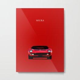 The Miura Metal Print