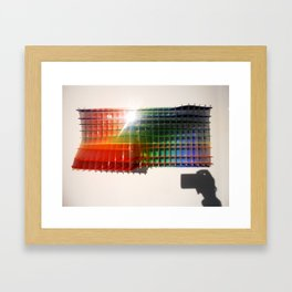 Rainbow Sculpture Framed Art Print