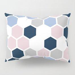Texture hexagons - Blu&Violet Pillow Sham