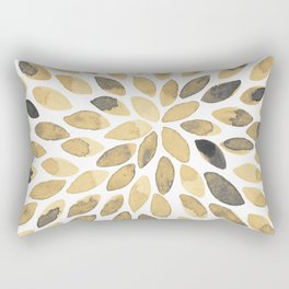 Watercolor brush strokes - neutral Rectangular Pillow