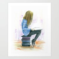 Lost in the Pages Art Print