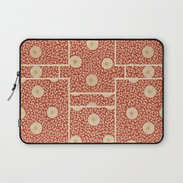 70's Red Floral Laptop Sleeve