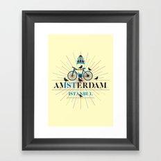 amsterdam & istanbul Framed Art Print