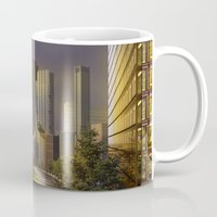 cityscape Mugs featuring Cityscape by Viggart