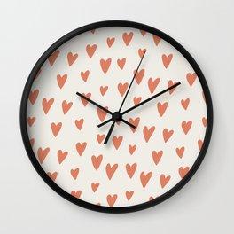 Hearts Hearts Hearts Wall Clock