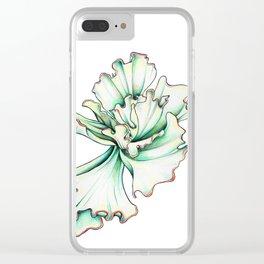 Ruffled Echeveria Clear iPhone Case