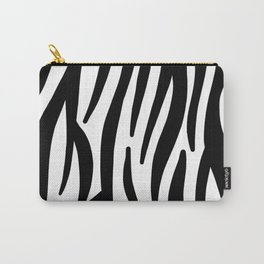 abstract modern safari animal black and white zebra print Carry-All Pouch