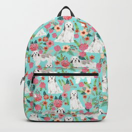 Havanese floral dog breed pure breed dog gifts Backpack