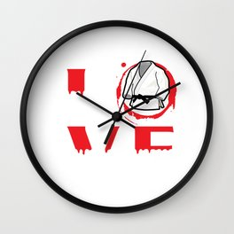 Love - Martial Arts Design Wall Clock