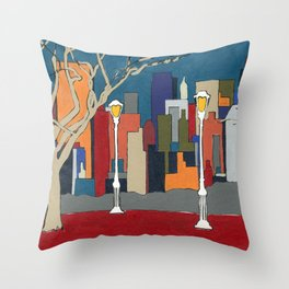 NYC Central Park 01 Throw Pillow