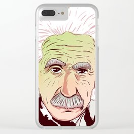 Einstein Clear iPhone Case