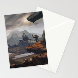 Stone valley | Fantasy landscape concept art Stationery Cards
