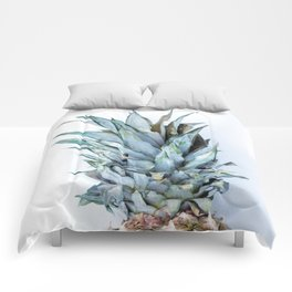Ananas - Pineapple On A White Background #decor #society6 Comforters