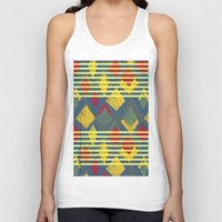stripe Tank Tops featuring Kite Stripe by lalaprints