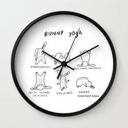 Bunny Yoga Wall Clock