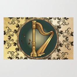 Golden harp Rug