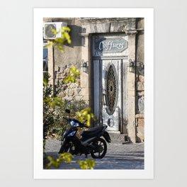 Door in port of Aegina 2 Art Print